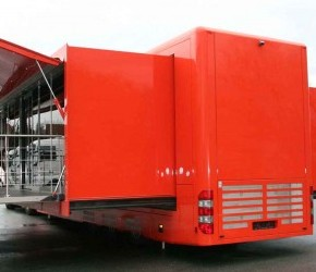 Big Double Podded Roadshow Trailer with Stage - Roadshow Trailers