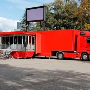 Roadshow trailers - Double Pod Gull Wing LED Trailer - Double Pod Gull Wing LED Trailer